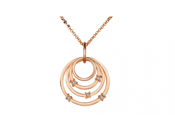 N409  Rose Gold Circle pendant