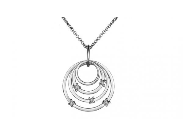 N409  Silver Circle pendant
