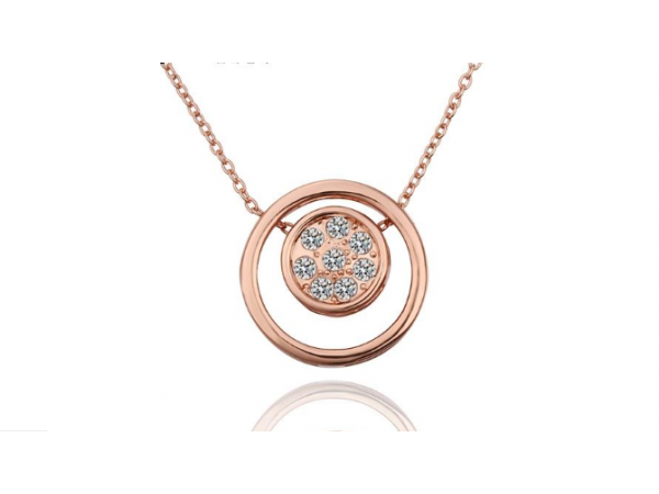 N439 Rose gold pendant.