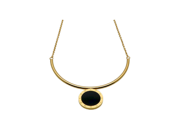 N457 Gold and black pendant