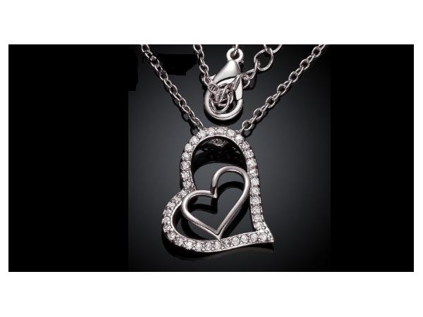 N465 Silver heart pendant