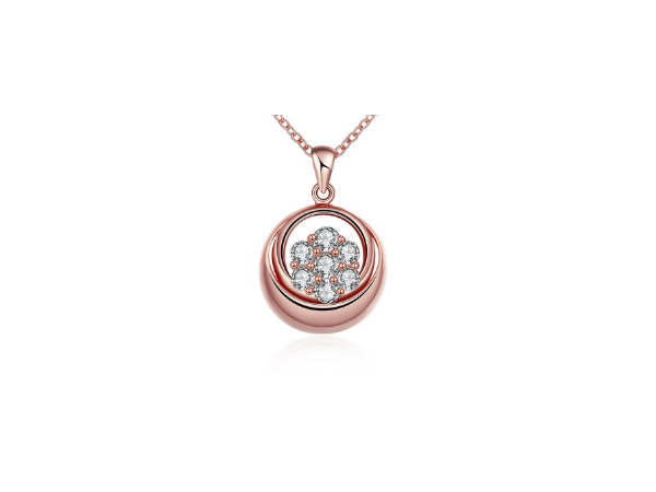 N467 Small rose gold pendant
