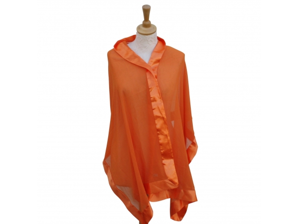 Orange silk wrap