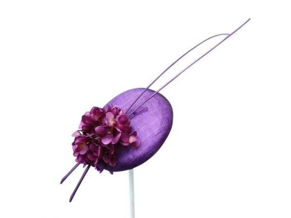 Orla Purple Fascinator