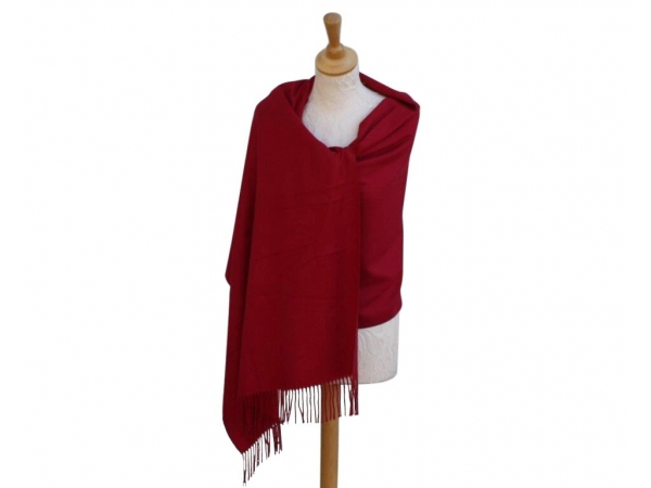 Pashmina Scarf berry Wool/cashmere