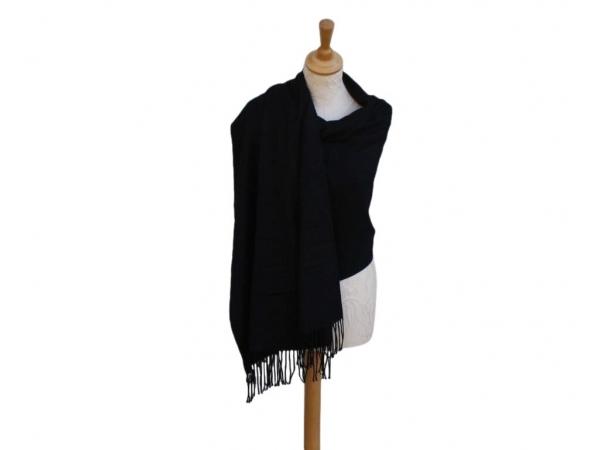 Pashmina Scarf black Wool/cashmere