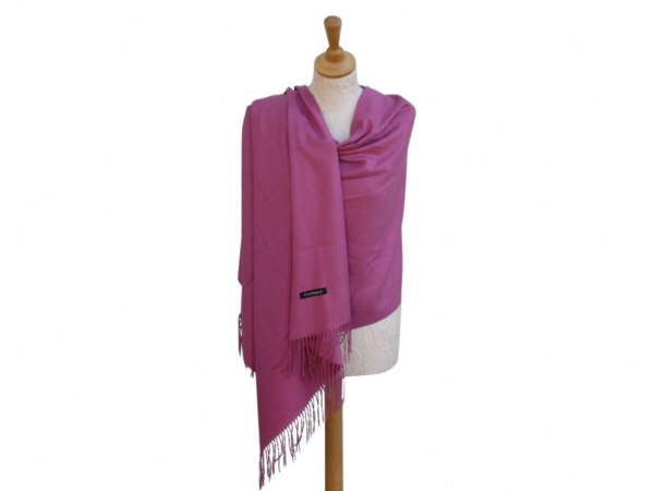Pashmina Scarf Dt.pink Wool/cashmere