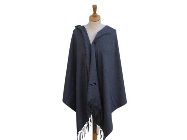 Pashmina Scarf Grey Wool/cashmere