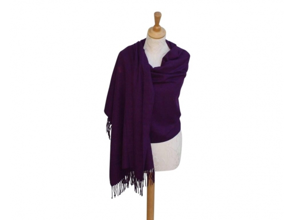 Pashmina Scarf Purple Wool/cashmere