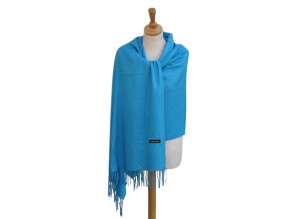Pashmina Scarf Sky Wool/cashmere
