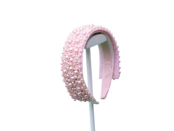 Pink Pearl Hair Band