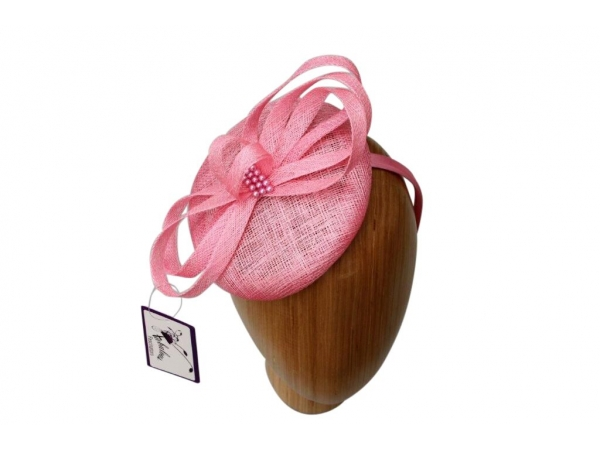 Pearl Pink fascinator