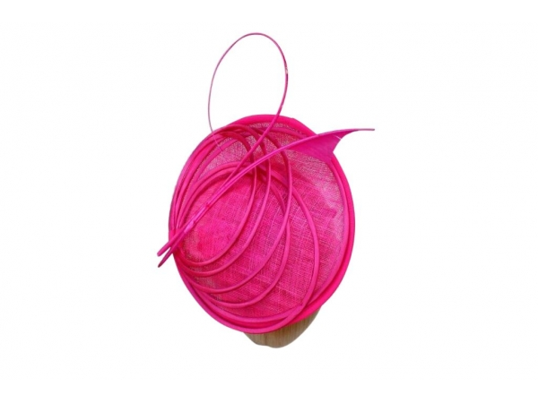 Pia Cerise fascinator