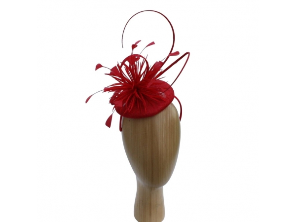 Riley Red Fascinator
