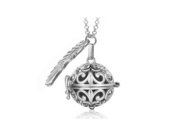 Bola  necklace silver/black