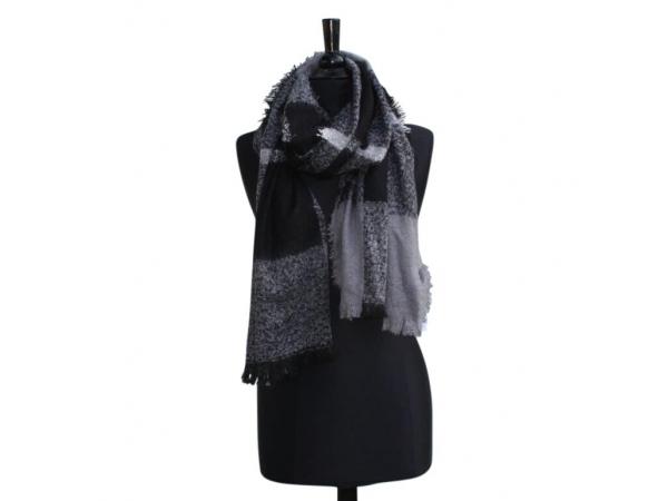 S11 Blanket scarf blk/grey