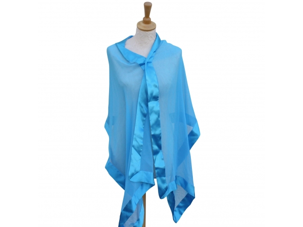 Sky blue silk wrap