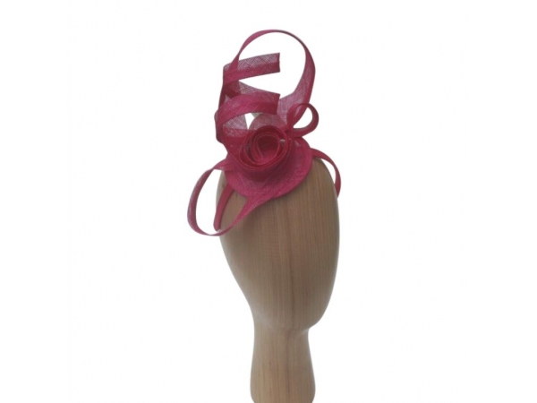 Swirl Magenta Fascinator.