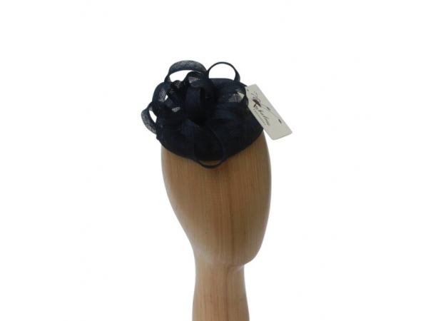 Tess Navy Fascinator.