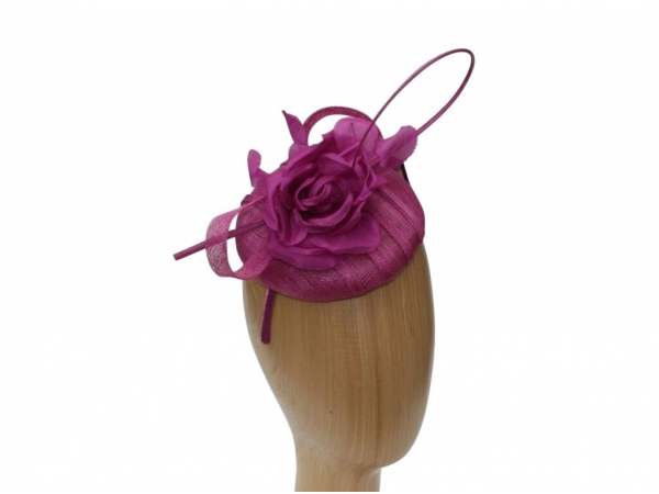 Willow Magenta Fascinator