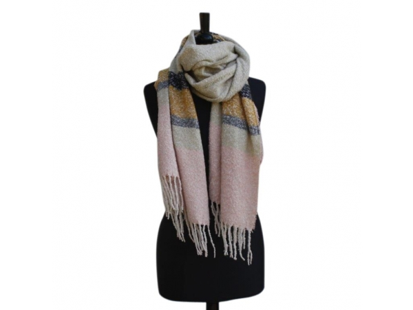 Ws303 Yellow Winter Scarf wool/Viscose mix
