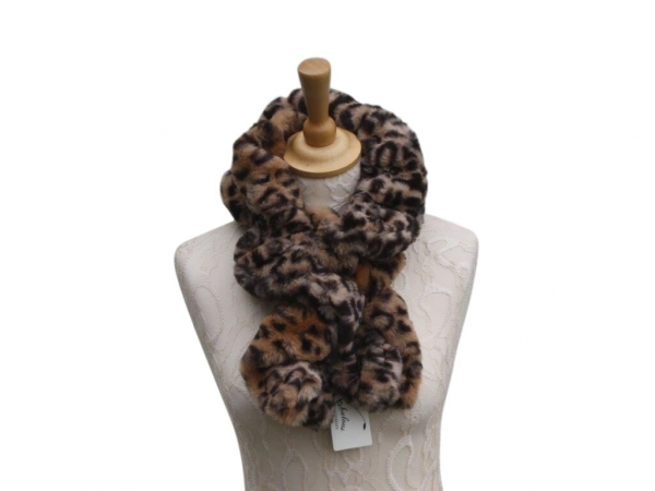 Ws001 Faux fur scarf Animal print
