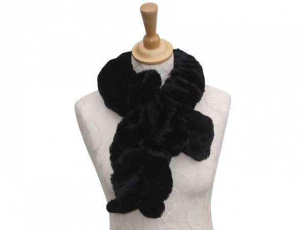 Ws001 Faux fur scarf Black
