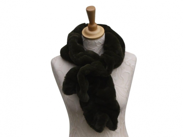 Ws001 Faux fur scarf Dark Green
