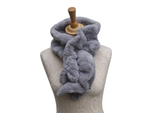 Ws001 Faux fur scarf Grey