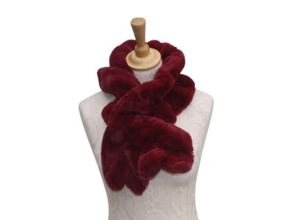 Ws001 Faux fur scarf Wine