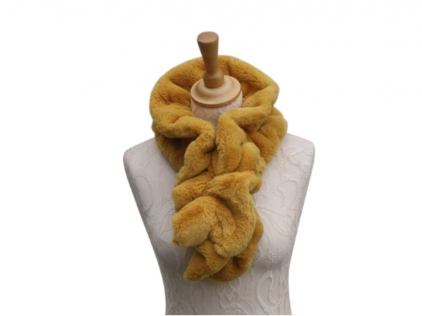 Ws001 Faux fur scarf Yellow