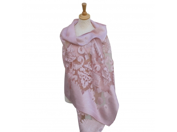 Viscose,cotton & silk wrap Pink