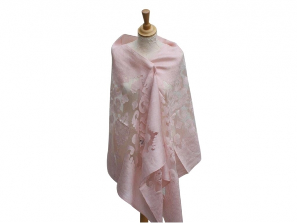 Viscose,cotton & silk wrap Lt.Pink