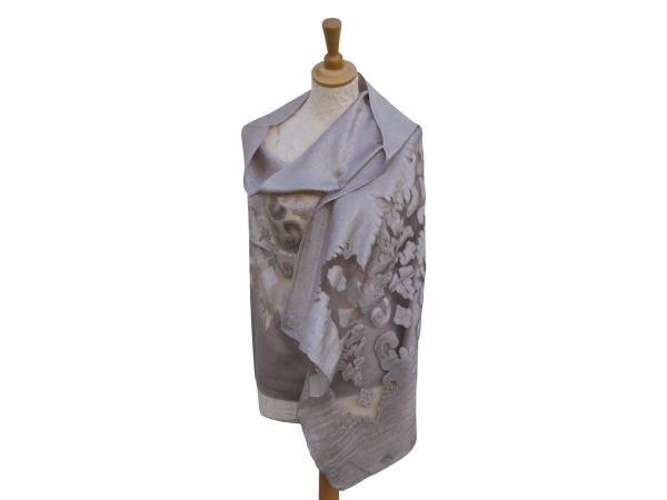 Viscose,cotton & silk wrap Taupe