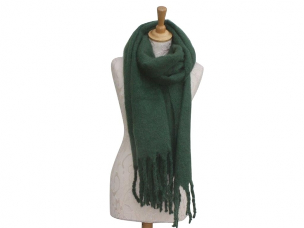 Ws004 Green scarf 80% Viscose 20% Wool