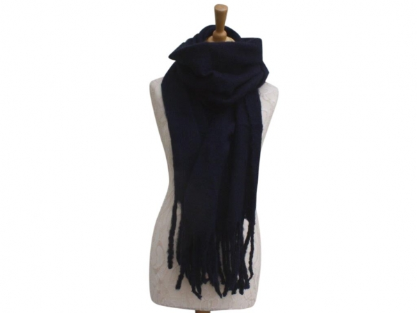Ws004 Navy scarf 80% Viscose 20% Wool