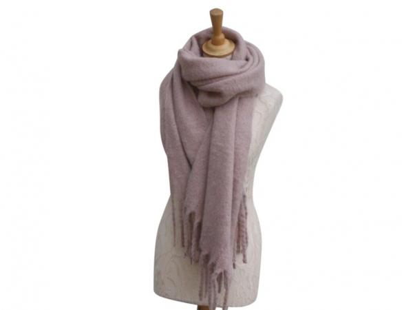 Ws004 Pink scarf 80% Viscose 20% Wool