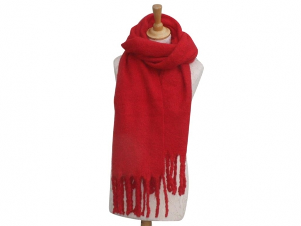 Ws004 Red scarf 80% Viscose 20% Wool