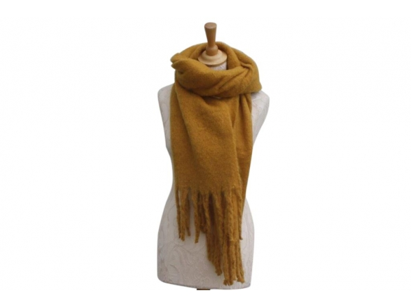Ws004 Yellow scarf 80% Viscose 20% Wool