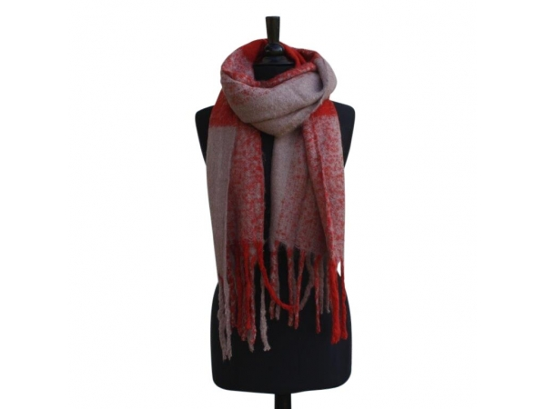 Ws-217 Orange Winter Scarf Wool & Acrylic Mix.