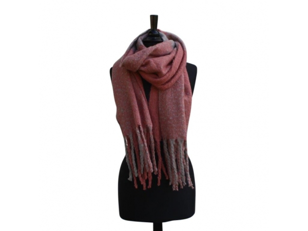 Ws-217 Pink Winter Scarf Wool & Acrylic Mix.