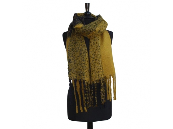 Ws-217 Yellow Winter Scarf Wool & Acrylic Mix.