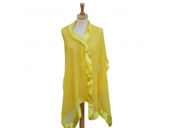 Yellow silk wrap