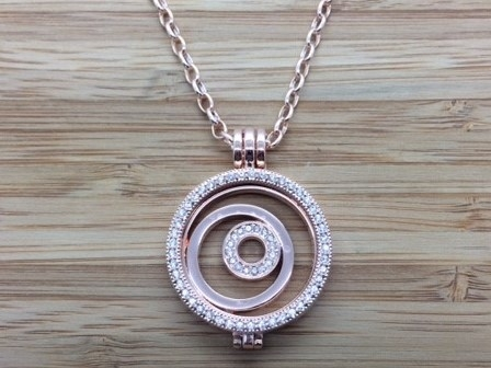 10G Rose gold coin Pendant