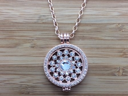 26G Rose gold coin Pendant