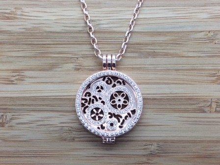 88G Rose gold coin Pendant