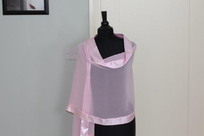 Baby pink wrap