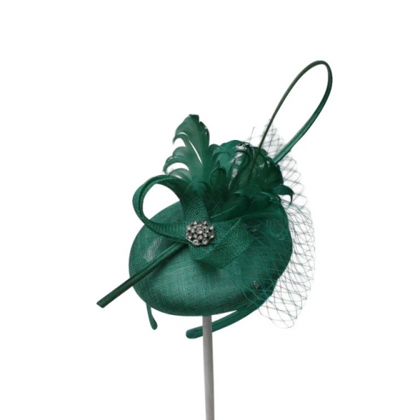 Bailey Green Fascinator