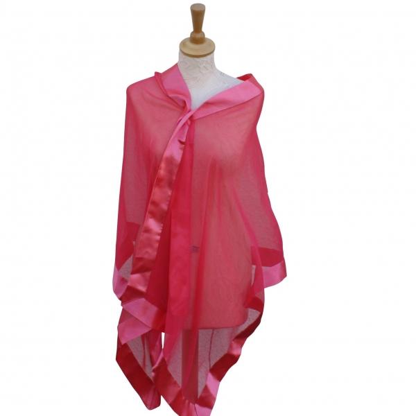 Coral silk scarf
