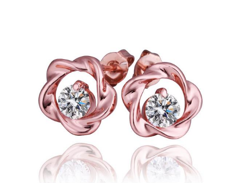 E176 Small rose gold stud